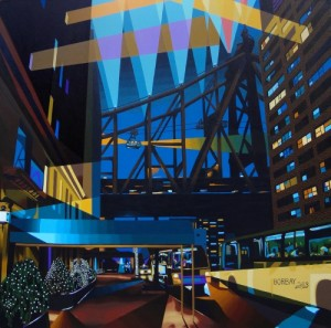 Sutton-Place-at-Twilight-Painting-by-Borbay